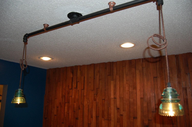 Pipe glass insulator ceiling light zoom arubaitofo Choice Image