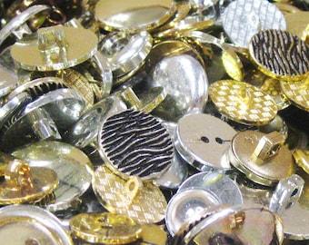 Button Mix 100g - Gold & Silver Mix