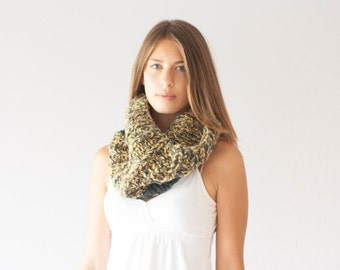 Sales Knit slouchy cowl chunky collar neck warmer knit shoulder warmer knit collar neckwarmer in yellow and grey