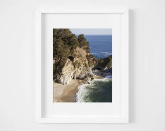 Big Sur photo print - Waterfall nature photography - California wall art decor - Julia Pfeiffer State Park photography - Ocean landscape