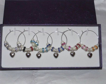 Sparkle and Shine Wine Glass Charm Set