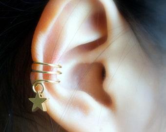 151) Cute Star Charm Ear Cuff