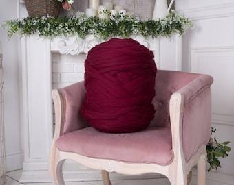 6 lbs/3 kg Extreme knitting. Jumbo wool. Wool roving. Merino wool yarn. Bulky yarn. Chunky yarn. Giant wool. Bulky knit. Wool yarn. Pure