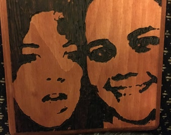 Custom Photo Plaque Woodburning