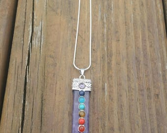 Amethyst Chakra pendant sterling silver
