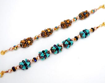 Beaded Tutorial. Beaded Bead Eliza and How To Assemble The Bracelet