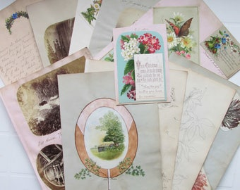 Mid-Victorian Cards and Illustrations  for scrap booking or craft project.