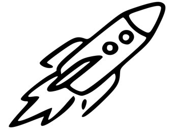 Rocket Ship Decal Etsy