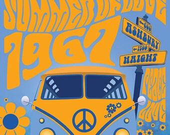 Haight Ashbury Summer Of Love 1967 Print