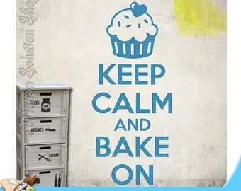 Decal sticker Keep Calm and Bake On