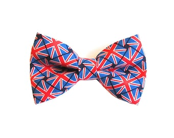 British Flag Union Jack Dog Bow Tie