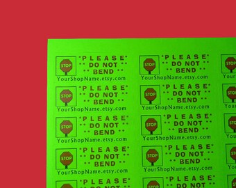 30 Personalized DO NOT BEND Labels. 1 Sheet of Neon Green 1-Inch Labels. Color. 5395