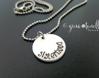 Sisterhood Necklace, Feminist Jewelry, International Womens Day, Womens Rights, Womens Equality, Planned Parenthood, Resist, Resister