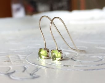 Peridot 925 sterling silver earrings/Earrings