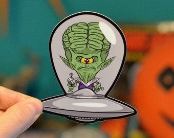 The Invading Saucer Men Sticker