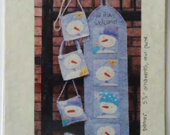 Snowman Craft PatternWool Felt  Sewing Holiday  All Flakes Welcome