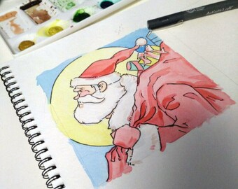 """5"""" x 5"""" Personalized Christmas Painting"""