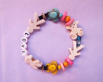 Love bracelet, beaded bracelet, valentine bracelet