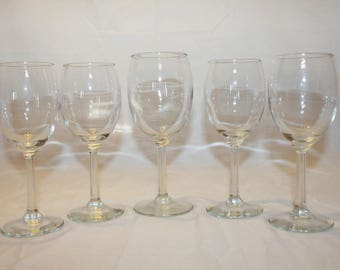 Set of 5 Crystal Wine Glass for You and Your Friends