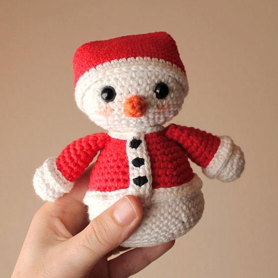 Snowman 2 - Christmas. Crochet Doll, Amigurumi Toy, Crocheting, Made to Order, Christmas Crochet, Cute Children Gift, Nursery Doll