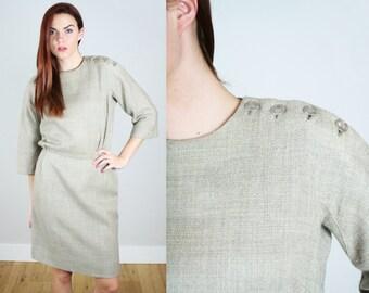 Vintage 1960s Tan Wiggle Dress