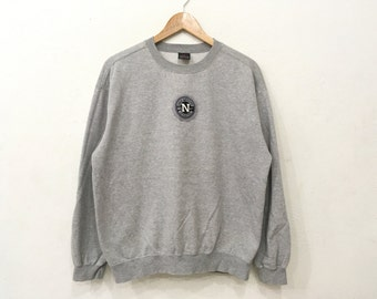 Rare!! vintage 90's NIKE Small Logo Sweatshirt Pullover Jumper Sweater Grey Colour Large Size