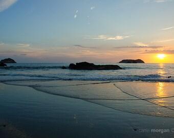 Costa Rica Travel Photography, Beach Photography, Sunset Photography, Beach Sunset Photograph, Beach Home Decor, Ocean Wall Art