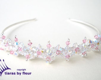Flora Swarovski crystal flower tiara