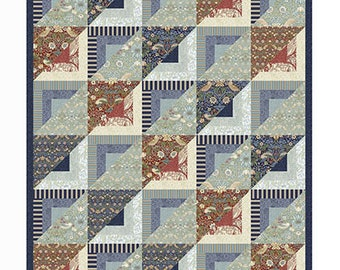 "William Morris Fabric Quilt Kit ""Neighbors and Friends"" - Kelmscott  Quilt Kit PREORDER for June/July - 100% Cotton 62""x 74"""