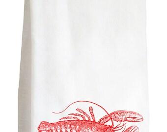 LOBSTER - 100% Cotton Flour Sack Kitchen Tea Towel