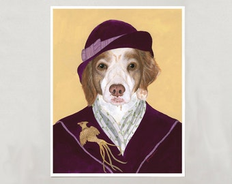 Art Print - Brittany Dog - Signed by Artist - 3 Sizes - S/M/L