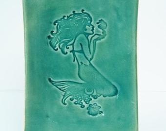 Mermaid Plate in Turquoise