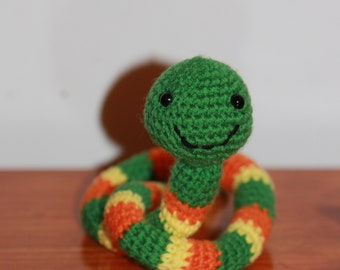 Amigurumi crocheted snake