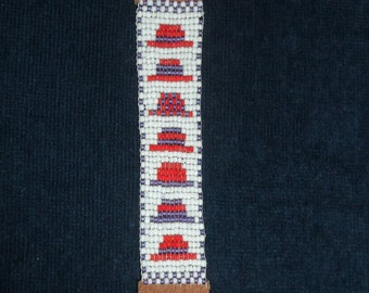 Red Hat Beaded Bookmark