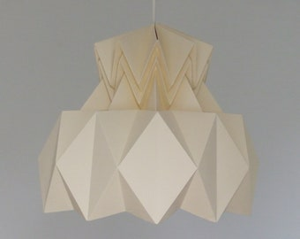 Hanging lamp HISA paper. Hanging in origami. Light in a Japanese spirit.