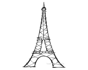 Eiffel Tower Vinyl Decal size X-LARGE Home Decor Office