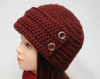 Womens Hats Crochet Beanie Cloche Hat Cloche Beanie Flapper hat Winter Beanie wife gift for wife Girlfriend Gift for womens gift Ladies hats