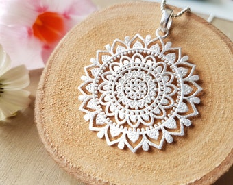 Necklace Mandala v 925 silver Mother's Day