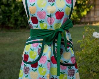 Apron - Vintage Style Retro - Patchwork Apples