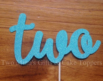 Personalised Custom Birthday Cake Topper - Age 'Two' Cake Topper - Cake Smash Topper