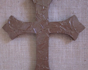 "CROSS.....2 sizes (14"" and 20"")....textured wooden wall display"
