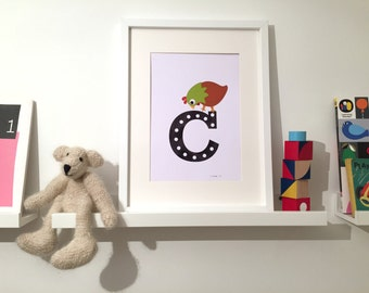 C is for Chicken- art print