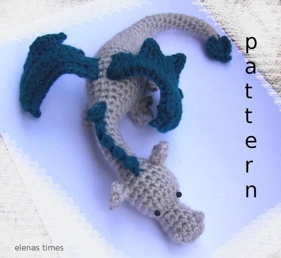 Crochet Dragon Pattern Amigurumi Dragon Pattern Stuffed