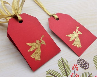 Gift Tags - Christmas Gift Tags - Christmas Angel gift tags - angel tag - Christmas tags - Chistmas favor tags- set of 8
