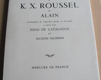 Alain; J Solomon: Introduction to the work serious of k x Roussel-[Catalogue, 1968.