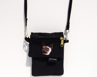 Siamese Cat Cell Phone Case with a Coin Purse, 2 Piece Set