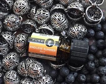 Aromatherapy, Diffuser, Locket, Oval Locket, Lava Stones, Essential Oil Locket