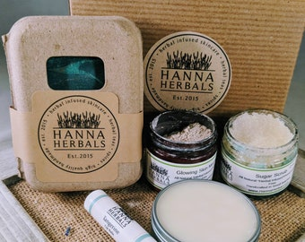 1 Month Subscription Box - monthly box - Sandalwood Amber -organic skin care - subscription box - hanna herbals - cold cream - sample sizes