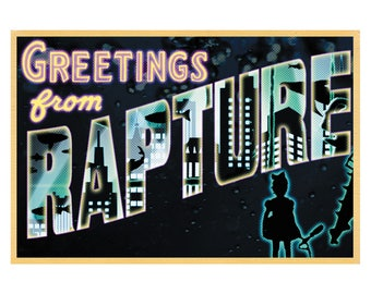 "Rapture (Greetings From...) 19"" x 13"" Postcard Poster - Bioshock"