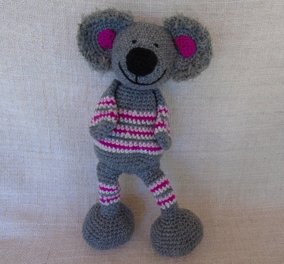 Koala Au Crochet Ko Aline L'intrépide Escaladeuse